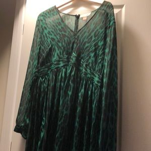 Long sleeve silk Michael Kors shirt dress